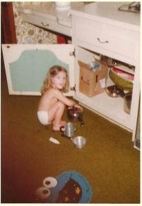 Michelle Cooks as a Child