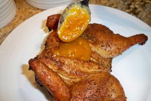 glaze with sauce