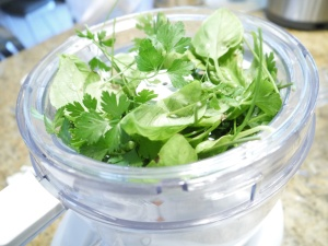 Herbs-in-the-food-processor