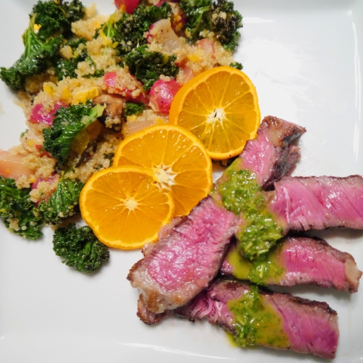 Sliced-Ribeye-Steaks-with-Roasted-Radish-and-Orange-Quinoa-FB