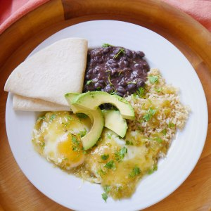 Eggs Poached in Salsa Verde with Beans and Rice | Cook Better Than Most Restaurants