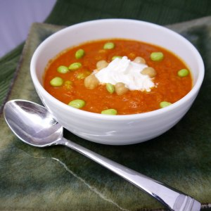 Tomato and Carrot Curry Soup
